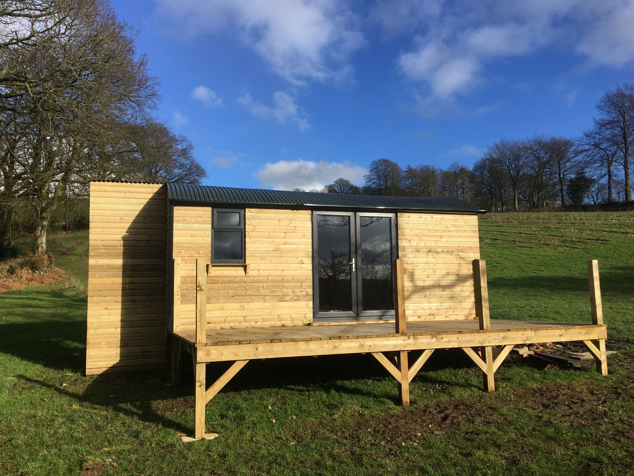 Royal Oak Farm Stargazing Cabin currently being built - bookings available from May 2020