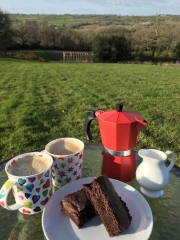 Royal Oak Farm coffee and cake