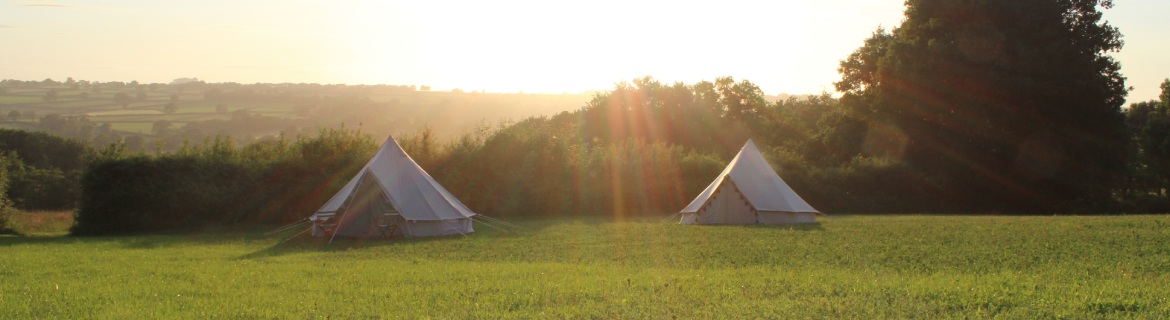 Glamping Bell Tents at royal oak farm