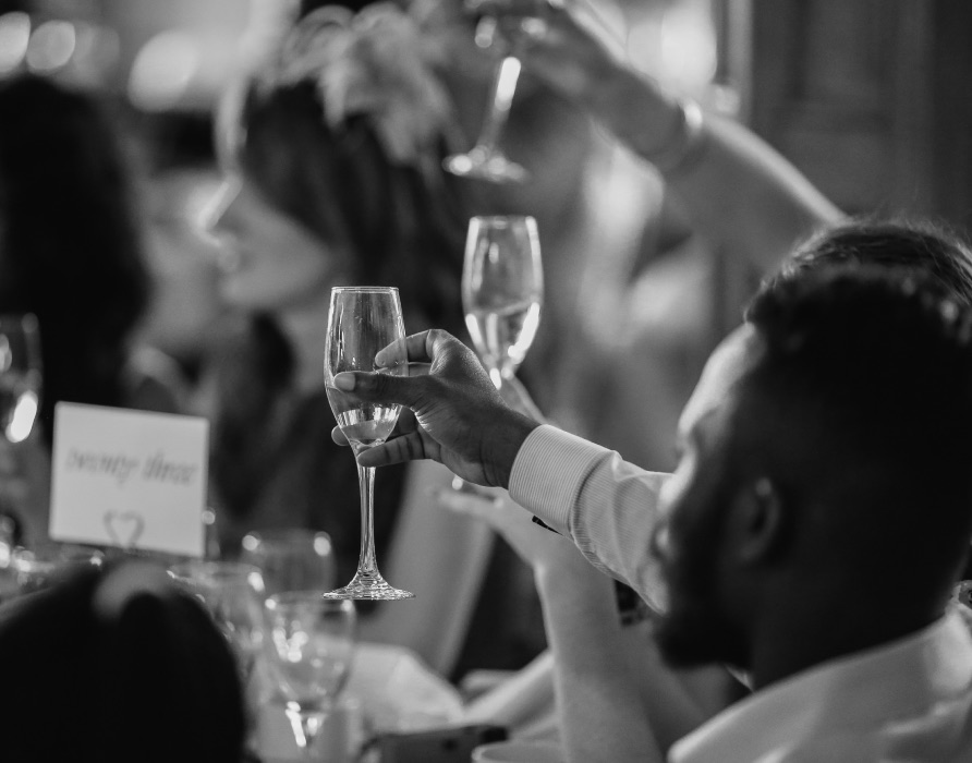wedding speech with drinks